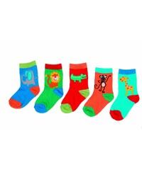 Bugga Dětský set ponožek se zvířátky, 5 párů