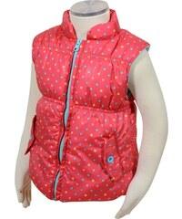 Bugga Dívčí vesta s barevnými puntíky - růžová