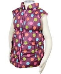Bugga Dívčí vesta s barevnými puntíky - fialová