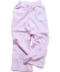 Bugga Dívčí sametové tepláky - světle růžové