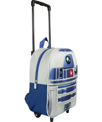 Disney Brand Chlapecký batoh na kolečkách Star Wars - bílo-modrý