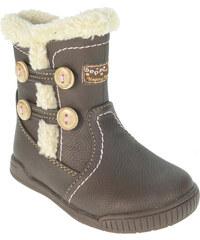 Beppi Dívčí zimní boty - hnědé