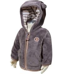 Bugga Dětská fleecová mikina s kapucí - šedá
