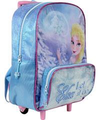 Disney Brand Dívčí batůžek na kolečkách Frozen - světle modrý