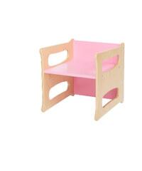 WOOD PARTNER Rostoucí židle UNIVE 3v1 natur lak - růžová