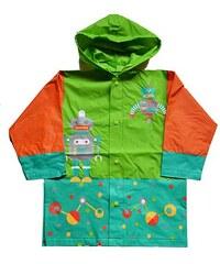 PIDILIDI Chlapecká pláštěnka s robotem - oranžovo-zelená