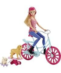 MATTEL Barbie Cyklistka a psí akrobati