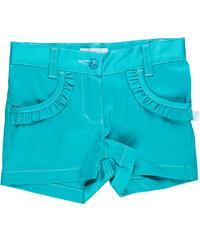 MMDadak Dívčí šortky s volánky - zelené