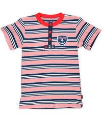 MMDadak Chlapecké pruhované tričko - červeno-modré