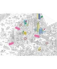 OMY DESIGN & PLAY Omalovánky - mapa do kapsy NEW YORK