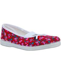 Toga Dívčí květované cvičky - červené