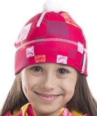 ALPINE PRO Dívčí vzorovaná čepice Polly - růžová