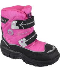 ALPINE PRO Dívčí zimní kotníkové boty Antartica Kids - růžové