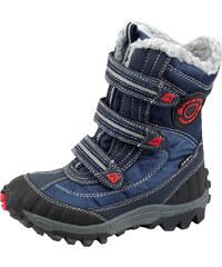 ALPINE PRO Chlapecké vysoké zimní boty Kajco- modré