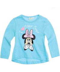 Disney Dívčí pruhované tričko Minnie - světle modré