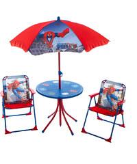 Arditex Dětský zahradní set 2 křesla, stůl a slunečník Spider man v dárkovém balení