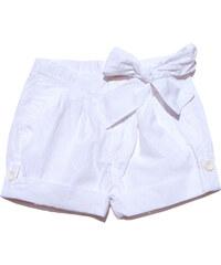 Gelati Dívčí šortky s mašlí - bílé