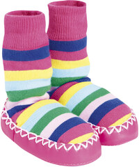 JoJo Maman Bébé Dívčí pruhované ponožky s podrážkou