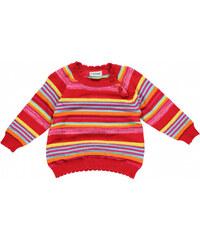 Fixoni Dívčí pruhovaný svetřík - červený