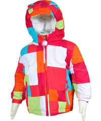 Bugga Zimní bunda s kožíškem - růžovo-oranžová
