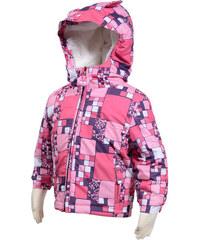 Bugga Zimní bunda s kožíškem - růžová