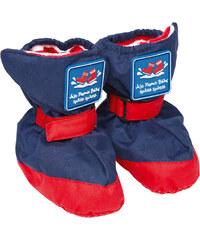 JoJo Maman Bébé Dětské návleky/botičky s podšívkou - modré