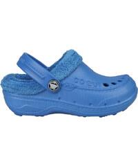 Coqui Dětské sandále Coqui s kožíškem - modré