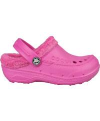 Coqui Dětské sandále Coqui s kožíškem - fuchsiové