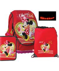 SunCe Anatomický školní batoh ABB set svítící - Disney Minnie