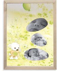 Lilipinso Papírový fotorámeček - medvídek, 18x24 cm