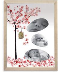 Lilipinso Papírový fotorámeček - japonský strom, 18x24 cm