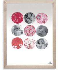 Lilipinso Papírový fotorámeček - kolečka s květy, 18x24 cm