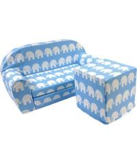 Bino Modrá sedací kostka