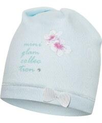 Broel Dívčí čepice s mašličkou - světle modrá