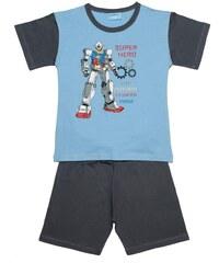 Pettino Chlapecké pyžamo s robotem - světle modré