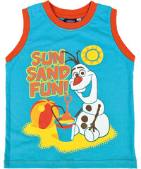 Disney Brand Chlapecké tílko Frozen - Olaf - tyrkysové