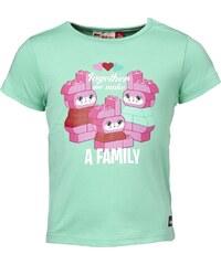 LEGO wear Dívčí tričko s růžovým potiskem - zelené