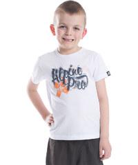 ALPINE PRO Chlapecké funkční tričko s potiskem Stygo - bílé