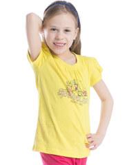 ALPINE PRO Dívčí tričko s potiskem Silva - žluté