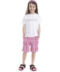 ALPINE PRO Dívčí tričko s potiskem Consalvo - bílé