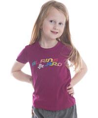 ALPINE PRO Dívčí funkční tričko s potiskem Bukko - tmavě fialové