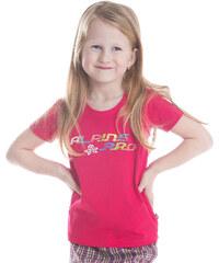 ALPINE PRO Dívčí funkční tričko s potiskem Bukko - růžové