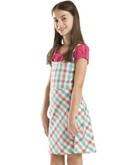 ALPINE PRO Dívčí vzorované šaty Ornella - barevné