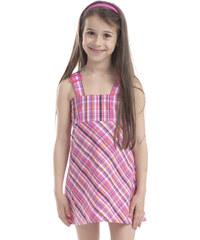 ALPINE PRO Dívčí vzorované šaty Orianna - růžové