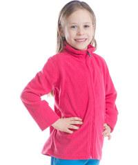 ALPINE PRO Dívčí fleecová mikina na zip Kiero - růžová