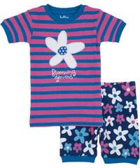 Hatley Dívčí letní pyžamko, růžovo-modré