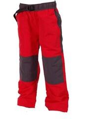 Bugga Dětské červené kalhoty/tepláky s podšívkou