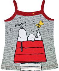 Disney Dívčí tílko Snoopy - šedo - červené