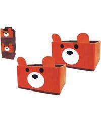 Jocca 2 úložné boxíky s medvídkem