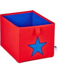 STORE !T Úložný box červený s modrou hvězdou